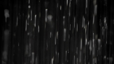Rain on black. Clip 2 Stock Video Footage