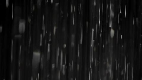 Rain on black. Clip 2 Footage