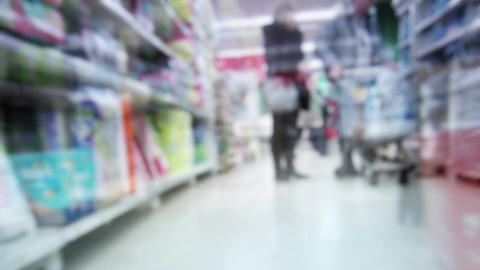 Shopping time lapse. View from the trolley Stock Video Footage