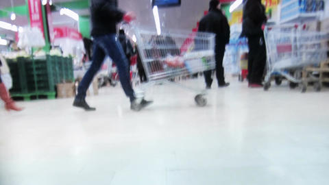 Shopping time lapse. View from the trolley Footage