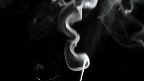 Thin smoke on a black background Stock Video Footage