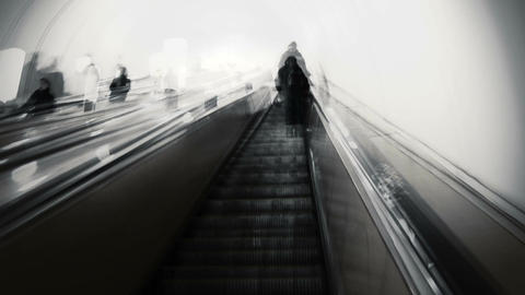 People in the metro. Time lapse Stock Video Footage