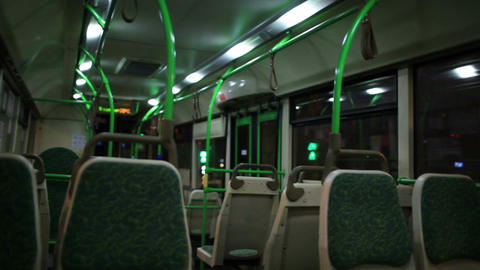 View Inside The Night Bus stock footage