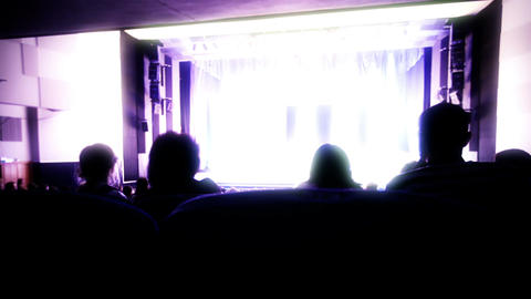 Viewers shot from back watching the show. Time lapse.... Stock Video Footage