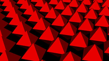 Rotation of 3D matrix pyramid.digital,diamond,data,technology,internet,code,info Animation