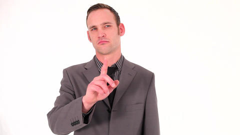 Young businessman making an affirmative gesture Stock Video Footage