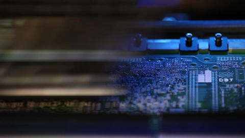 Close up view of an elcetronics device bulding circuit... Stock Video Footage