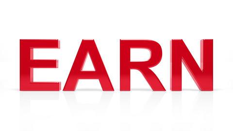 Buy, sell, earn words. Loop Stock Video Footage