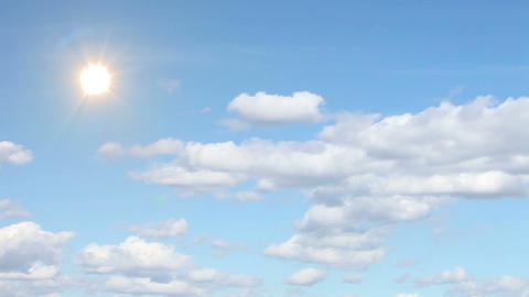 Clouds, Sky,sun. stock footage