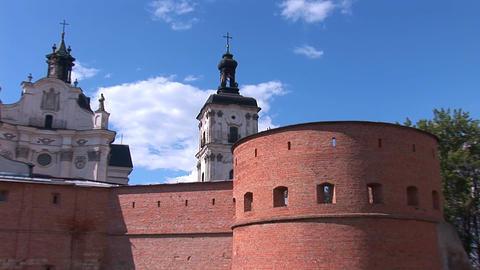 Fortified Carmelite monastery b Footage
