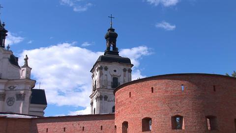 Fortified Carmelite monastery b Stock Video Footage