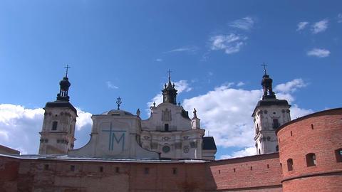 Fortified Carmelite monastery d Footage