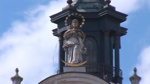 Fortified Carmelite monastery d Stock Video Footage