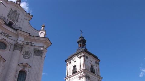 Fortified Carmelite monastery h Stock Video Footage
