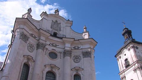 Fortified Carmelite monastery h Footage