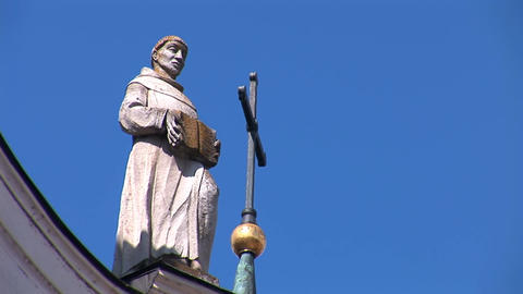 Fortified Carmelite monastery J Footage