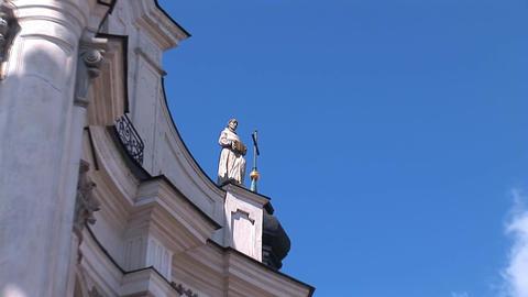Fortified Carmelite monastery J Stock Video Footage