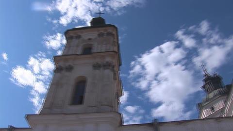 Fortified Carmelite monastery L Stock Video Footage