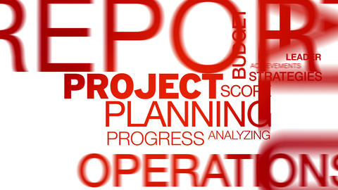 Project Planning Word Cloud Animation Stock Video Footage