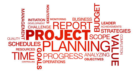 Project Planning Word Cloud Animation Animation