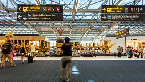 Bangkok Suvarnabhumi Airport - Timelapse Footage