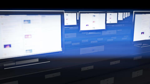 4 K Social Media Spy Room 2 Stock Video Footage