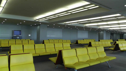 Empty Airport Waiting Hall 1 Stock Video Footage