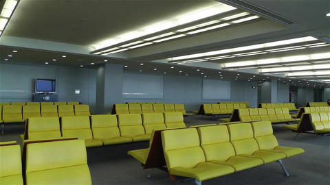 Empty Airport Waiting Hall 1 Footage