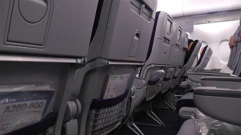 Empty Lufthansa A 380 Flight Crisis 1 Stock Video Footage
