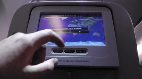Flight Route On Airbus A 380 1 Handheld stock footage