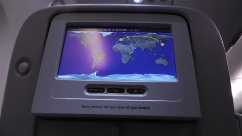 Flight Route on Airbus A 380 1 handheld Stock Video Footage