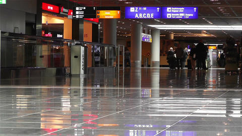 Frankfurt Airport Waiting Area 2 Stock Video Footage