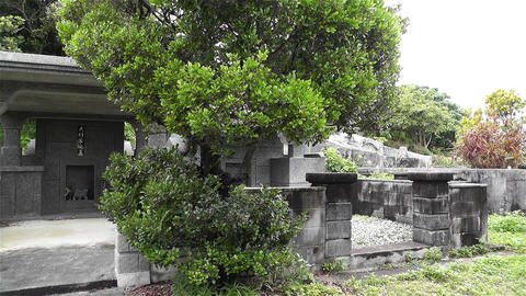 Japanese Cemetery in Okinawa Islands 2 Stock Video Footage