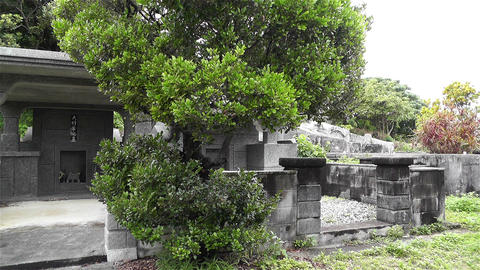 Japanese Cemetery in Okinawa Islands 2 Footage