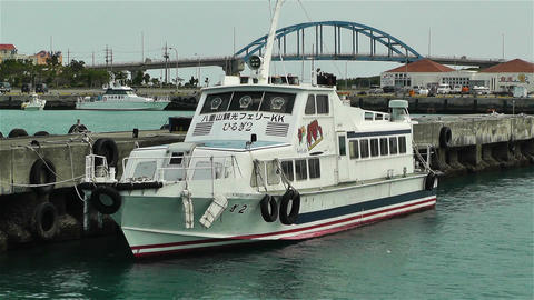Japanese Ship in Port 2 Stock Video Footage