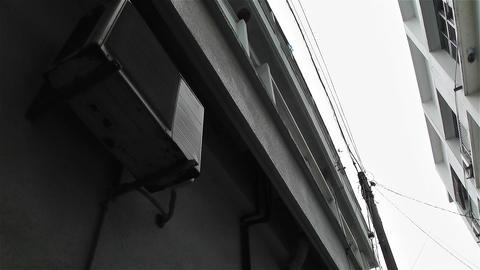 Japanese Street Lowangle Pan Stock Video Footage