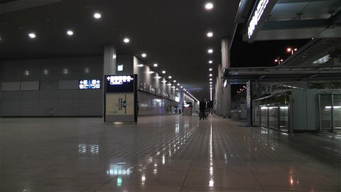 Kansai Airport Osaka Japan 1 night Footage