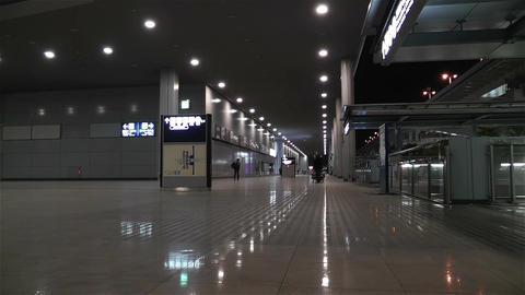 Kansai Airport Osaka Japan 1 night Stock Video Footage