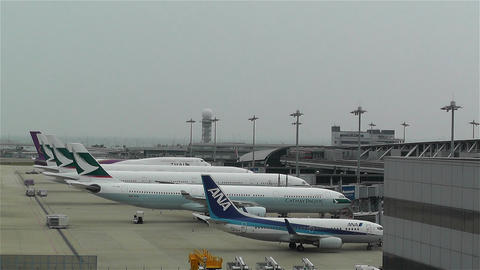 Kansai Airport Osaka Japan 3 Stock Video Footage