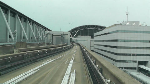 Kansai Airport Osaka Japan 14 train fastmotion Stock Video Footage