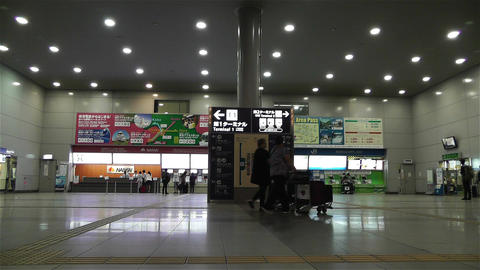 Kansai Airport Railway Station Osaka Japan 1 Footage