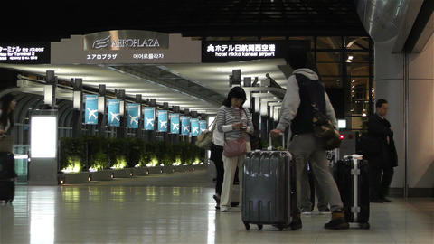 Kansai Airport Railway Station Osaka Japan 3 Stock Video Footage