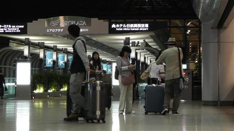 Kansai Airport Railway Station Osaka Japan 3 Stock Video Footage