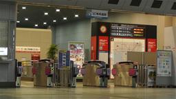 Kansai Airport Railway Station Osaka Japan 8 Stock Video Footage
