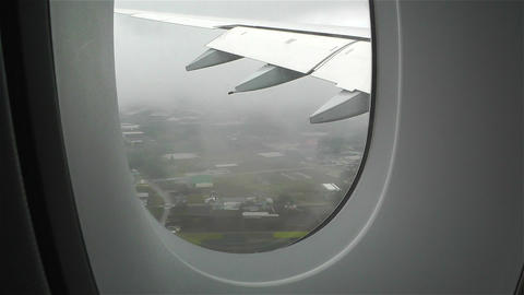 Looking through window Airbus A 380 Stock Video Footage