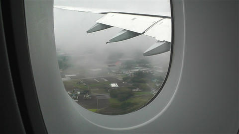 Looking through window Airbus A 380 Footage