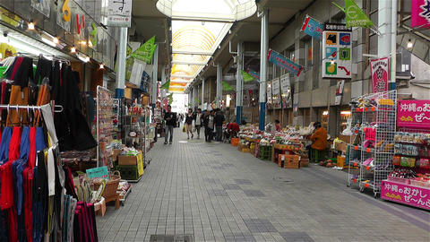 Market in Okinawa Islands Ishigakijima 1 Stock Video Footage