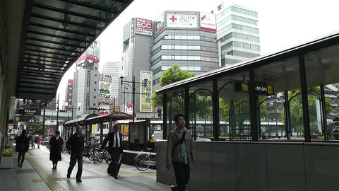 Namba District Osaka Japan 2 Stock Video Footage