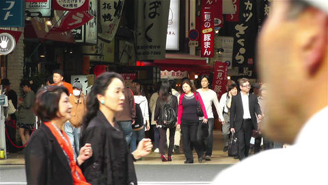 Namba District Osaka Japan 4 Stock Video Footage