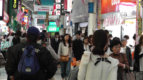 Namba District Osaka Japan 8 Stock Video Footage